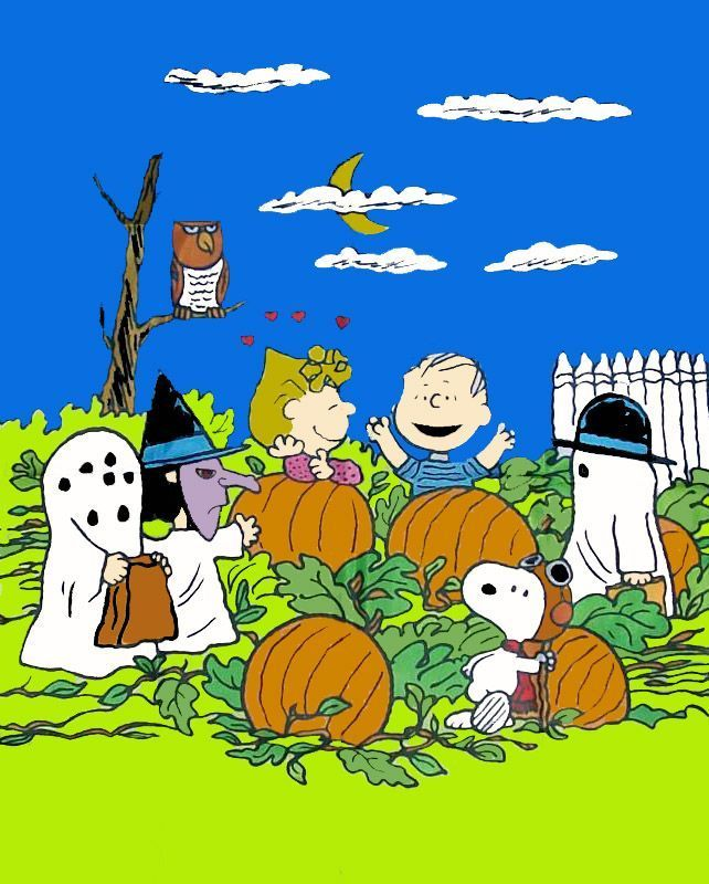 the great pumpkin charlie brown peanuts gang halloween - Charlie Brown Halloween Cartoon