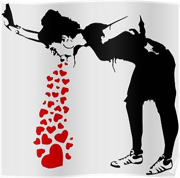 'Lovesick - Banksy, Streetart Street Art, Grafitti, Artwork, Design For Men, Women, Kids' Poster by Art-O-Rama ‍‍Shop