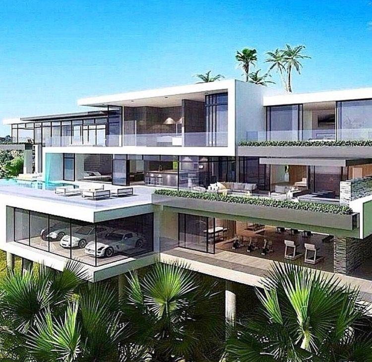 Modern House White Modern Mansion Dream House Exterior