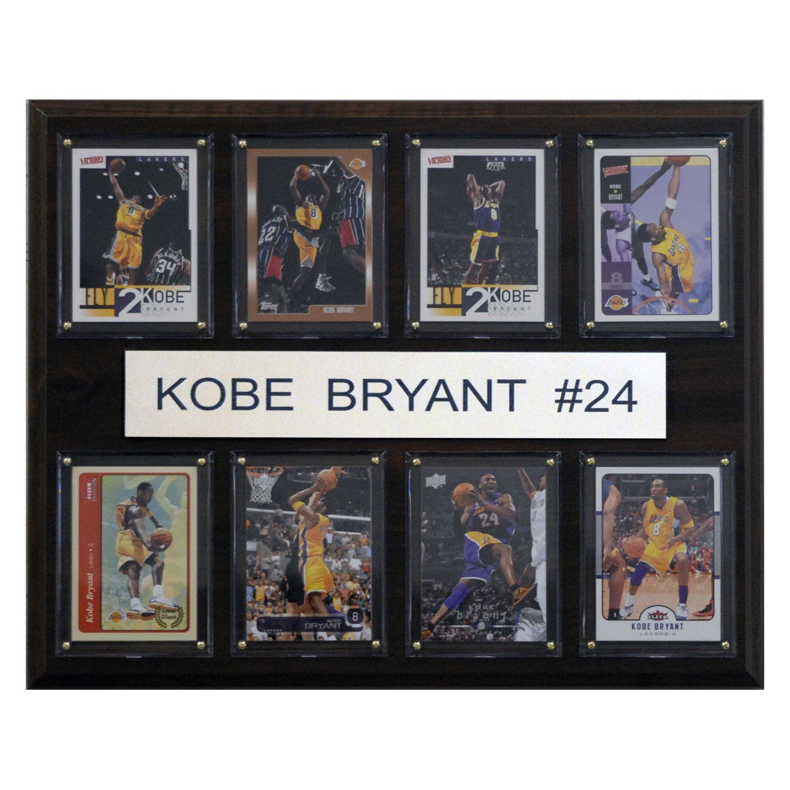 Nba 12 X 15 In Kobe Bryant Los Angeles Lakers 8 Card Plaque