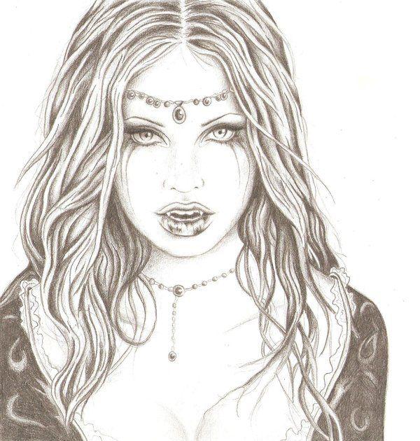Vampire Girl Drawing - Google Search