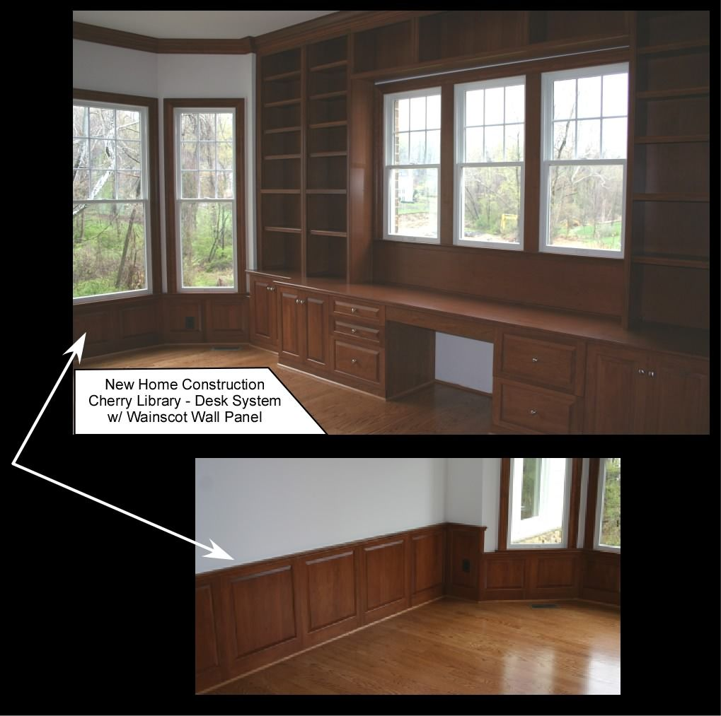 Built-in Shelves And Desk Under Window