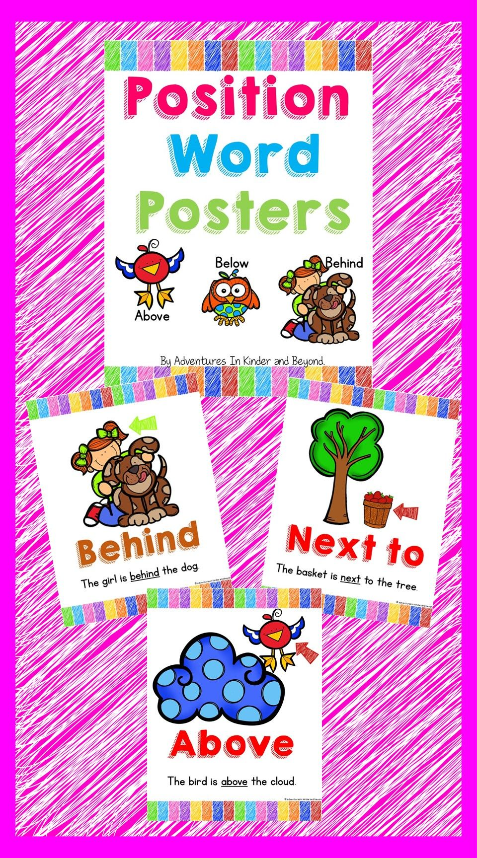 Positional Words Posters {Prepositions That Tell