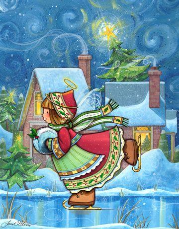 Winter Wonders Angel - by Janet Sever