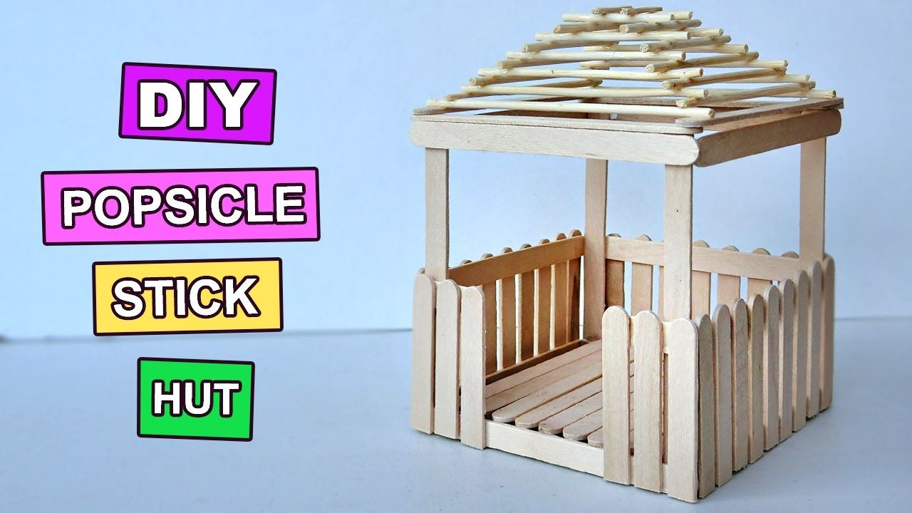 Popsicle Stick Crafts Miniature Relaxing Hut 3 Diy Popsicle Stick Crafts Popsicle Stick Houses Popsicle Stick Crafts House