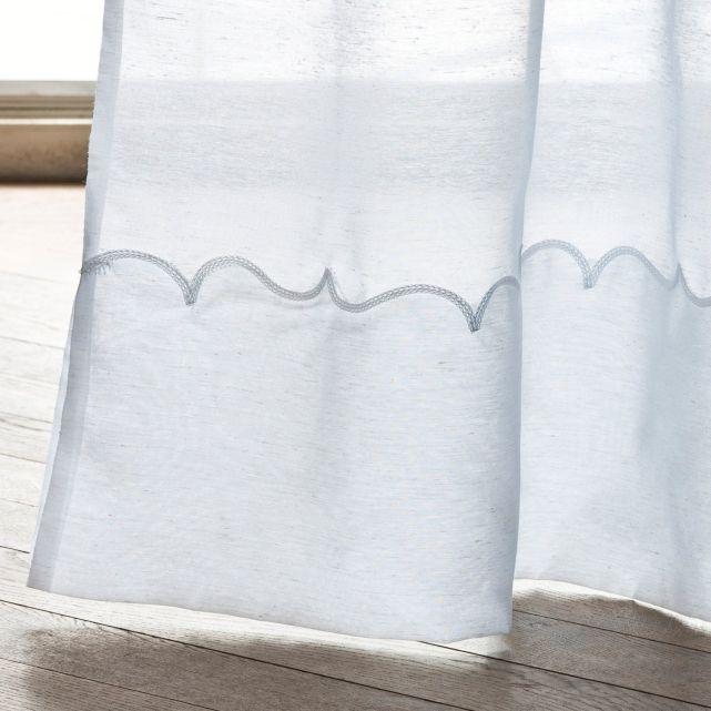 voilage base brod e polyester lin la redoute inspiration rideaux rideaux voilage et. Black Bedroom Furniture Sets. Home Design Ideas
