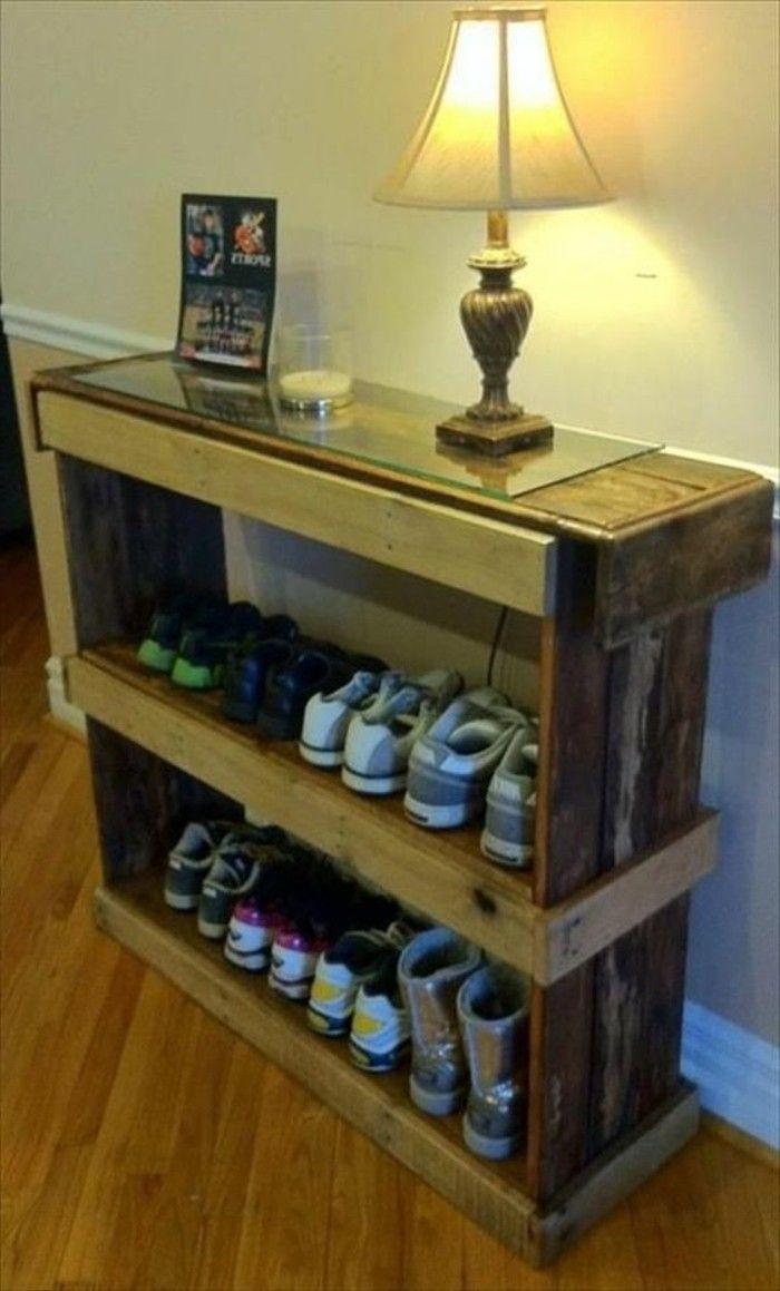 Muebles De Palets Para Los Zapatos F Cil De Hacer Repisa  # Muebles Para Zpatos