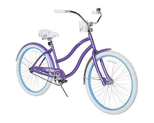 Dynacraft Women S Island Breeze Cruiser Bike Purple White Blue 26 Purple Bike Cruiser Bike Bike