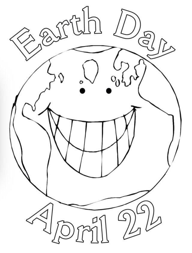 Happy Planet Seni Digital Seni Preschool earth day coloring pages