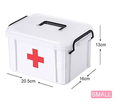 Household First Aid Kit Box Medicine Box Plastic Container Emergency Kit Portable Multi Layer Larg Medication Storage First Aid Kit Storage Plastic Box Storage