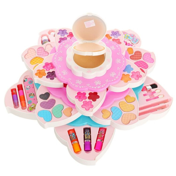Barbie Doll Girl Toy suitcase makeup children cosmetics Princess Makeup Box birthday gift Barbie flower princess