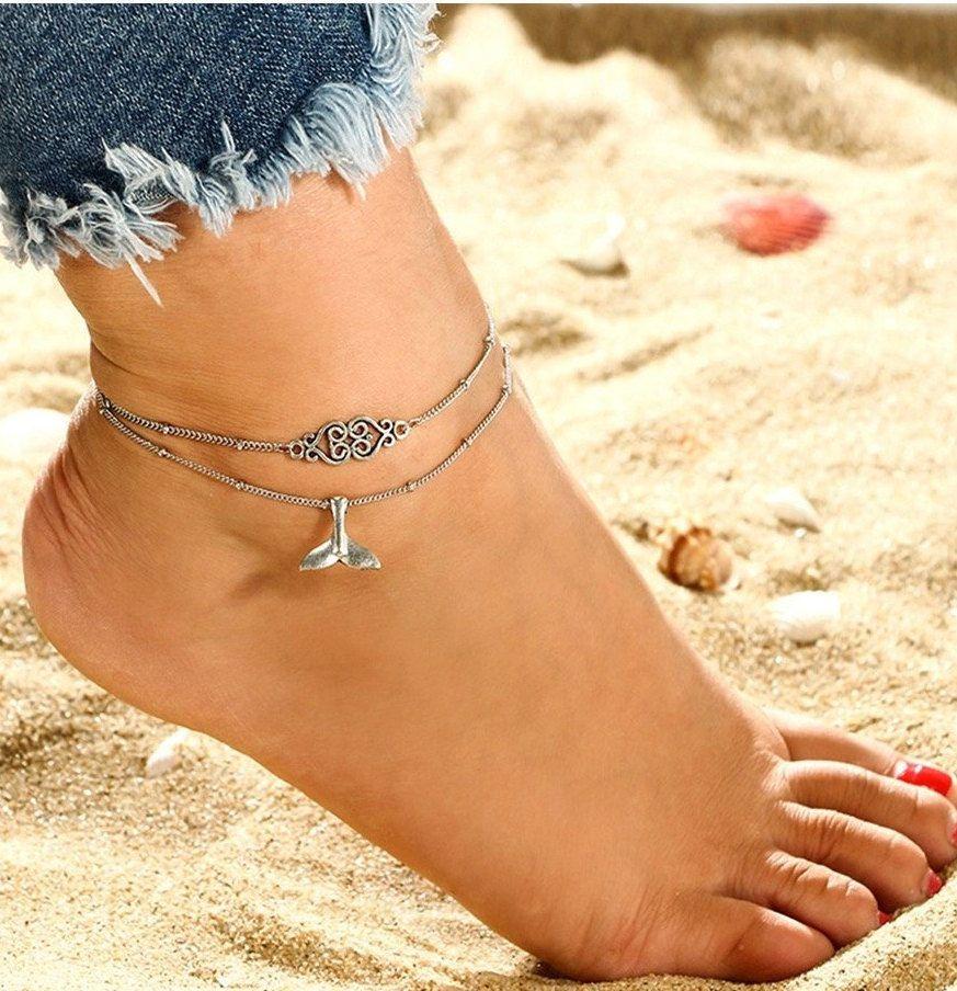 bracelet femme cheville