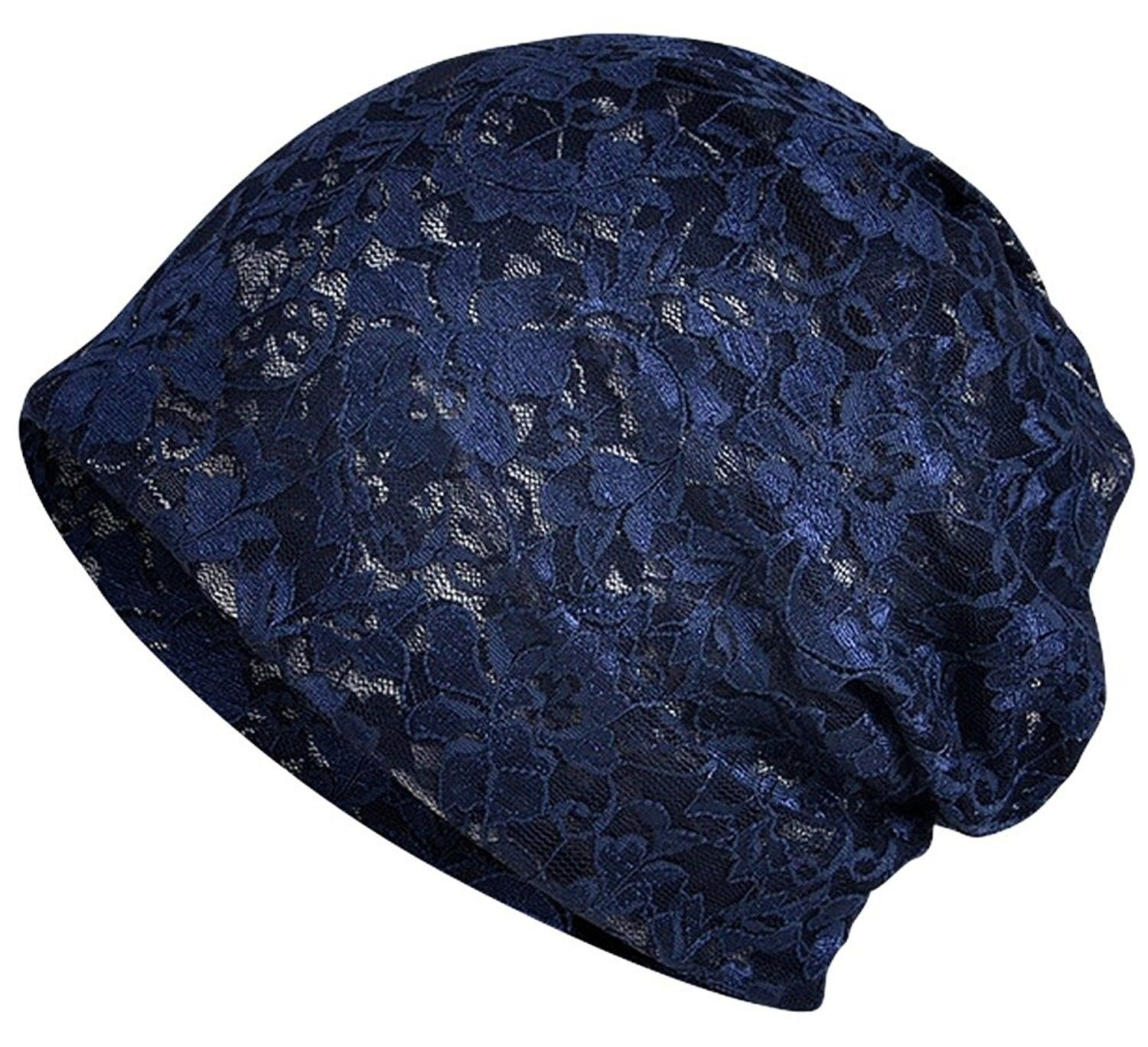 Womenus Lace Slouchy Beanie Chemo Hat Cap for Cancer Patients B
