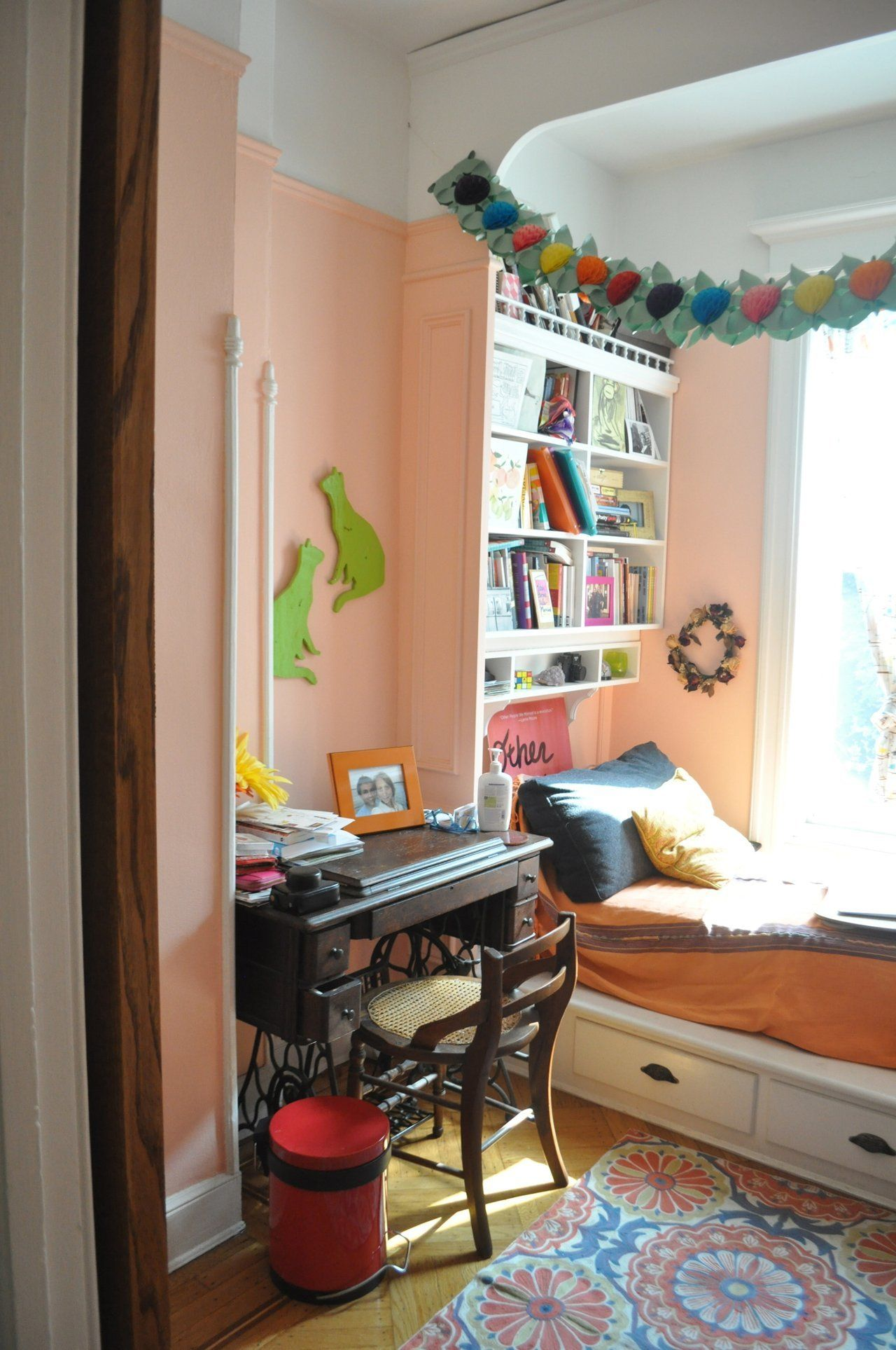 Emma & Mike's Whimsical Home in Brooklyn Bedroom decor