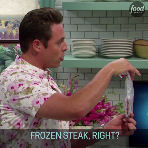 Learn how to defrost a steak in just five minutes!