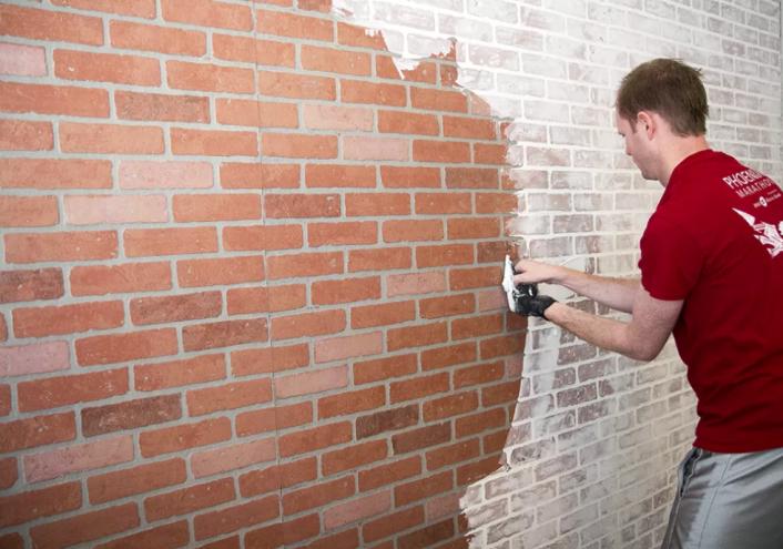 Diy Faux Brick Wall Tutorial My Home Decor Guide Faux Brick Walls Diy Faux Brick Wall Wall Bedroom Diy