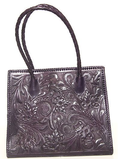 Purple Hand Tooled Leather Purse by ChamanShop on Etsy dd641cb99bc49