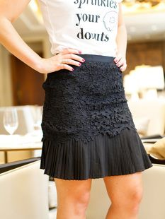 aed5eef2a Black Lace Pleated Skirt, lace skirt, mini skirts, cute mini skirts,  pleated skits, black skirts, how to style your mini skirt, how to style  your graphic ...