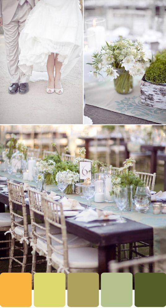 Earth tone wedding color scheme