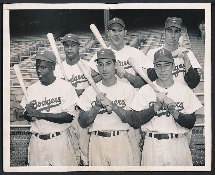 An Earlier Photo Probably 1949 50 Of Dodgers Sluggers Dodgers Nation Dodgers History Major League Baseball Players