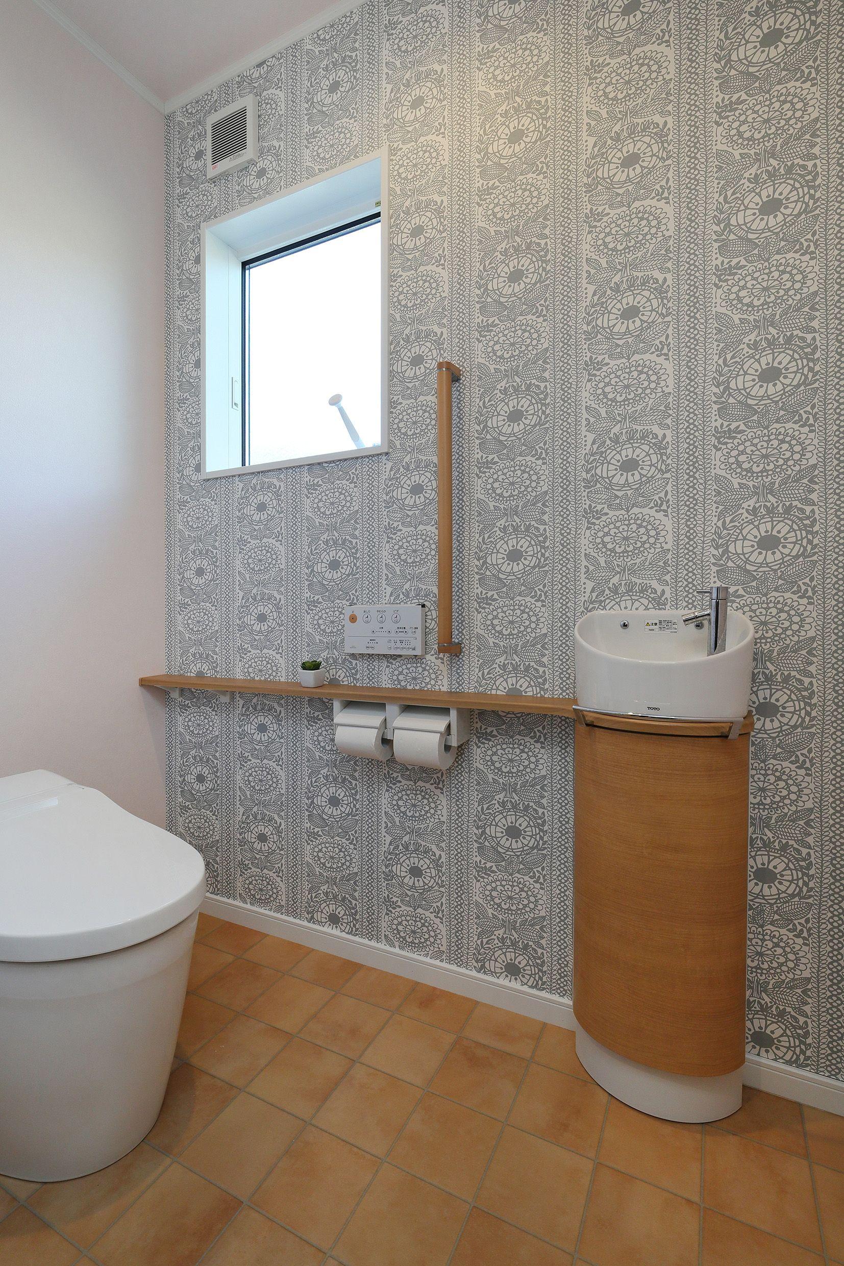 壁クロス サンゲツ Re 2741 トイレ おしゃれ トイレのアイデア トイレ インテリア