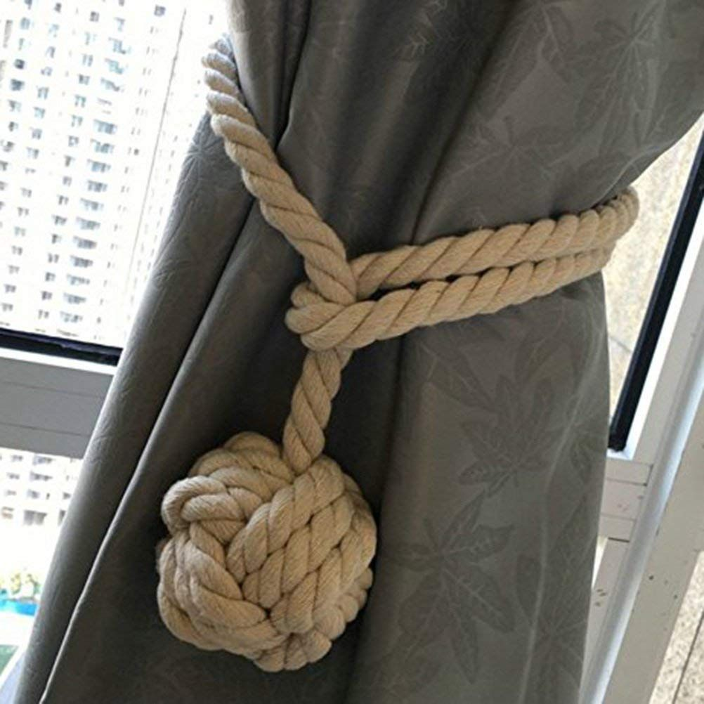Amazon.com: NUOLUX Hand Knitting Curtain Rope Curtain Tie