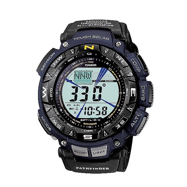 Casio Mens Calendar Day/Date, Solar Power, Tri-Sensor Digital Watch w/Black Band. I want this watch...
