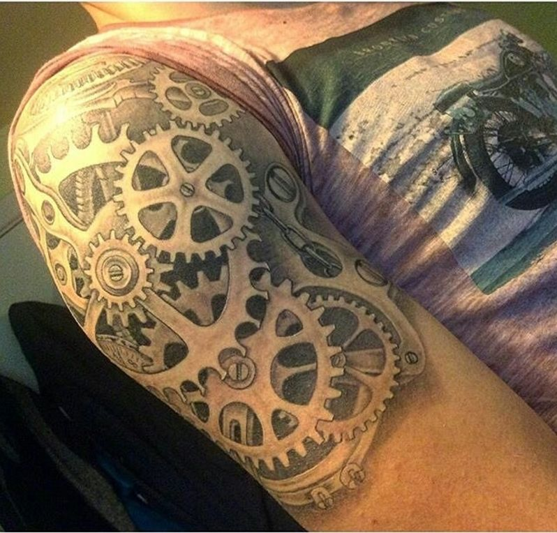 Full Sleeve Tattoo Gears: Pin By Amber Winter On ️INK