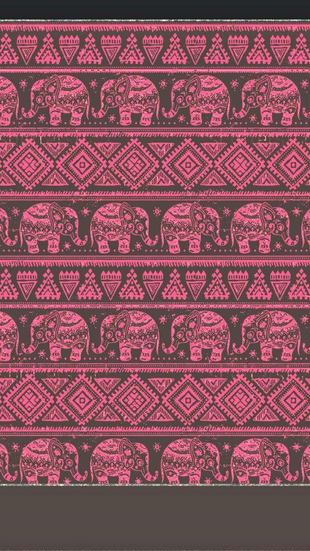 American hippie art pattern design wallpaper iphone - Elephant background iphone ...