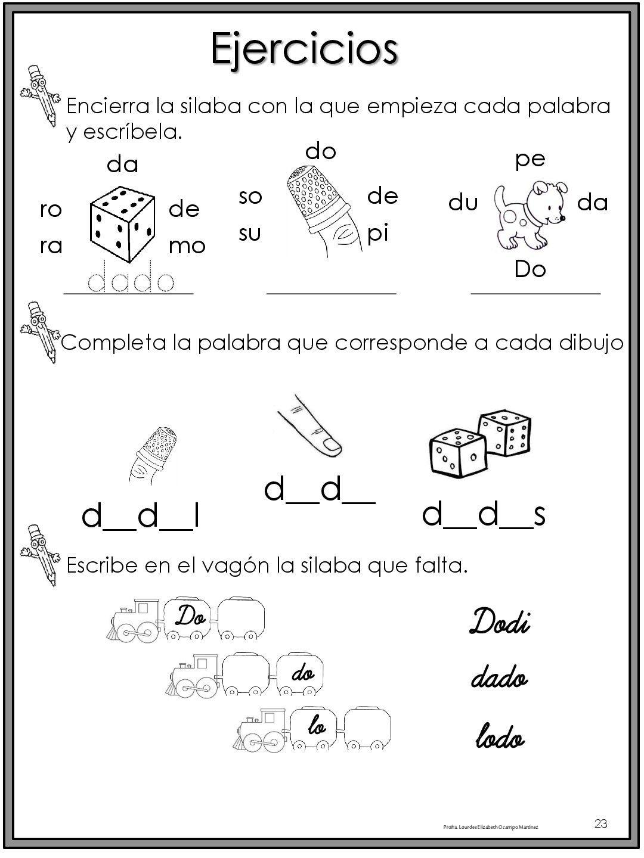 50 ejercicios de lecto-escritura para preescolar y ...