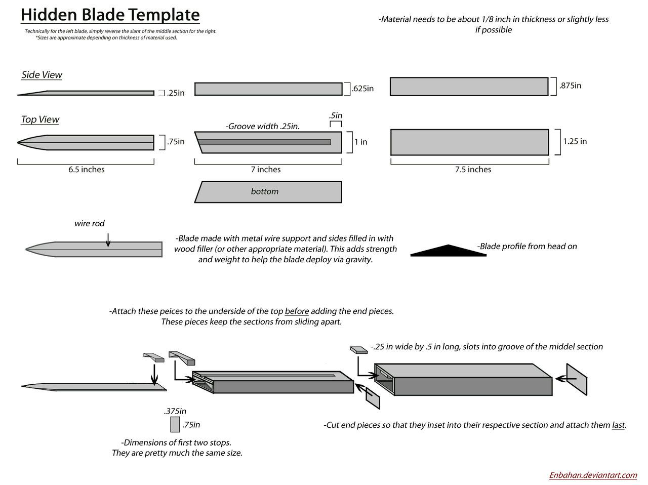 Hidden Blade Template By Enbahan On Deviantart  Costume Design