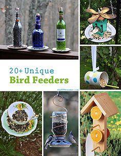 20 unique bird feeders, outdoor living