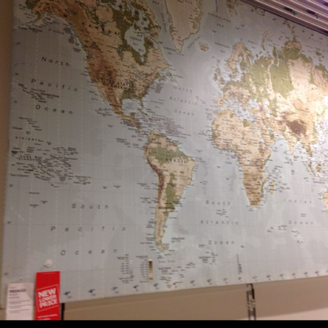 Ikea premiar world map picture with framecanvas large 55 x 78 huge world map at ikea playroom wall playroom pinterest large world map for wall ikea gumiabroncs