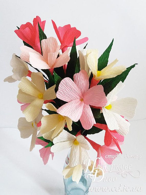 Branch Jasmine Paper Flowers Bouquet Jasmine Spring Wedding