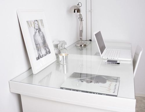 White Workspace Home Interior Home Office Decor