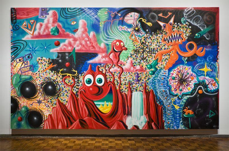 When The Worlds Collide 1984 By Kenny Scharf Kunst Ideen Idee Farbe Amerikanische Kunst