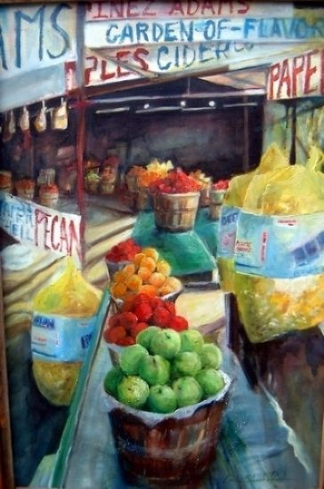 """Original Acrylic of a """"Fruit Stand"""" in Bowie, Texas   Website: LindaShackelford"""