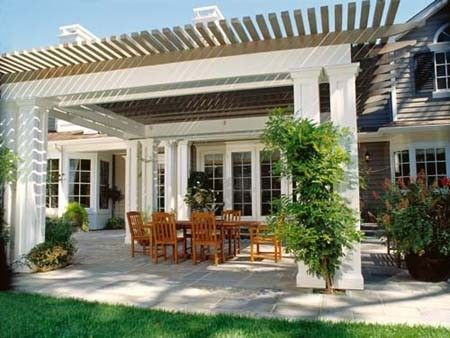 White Pergola Design Ideas Pictures Remodel And Decor Outdoor Patio Designs Patio Design Pergola
