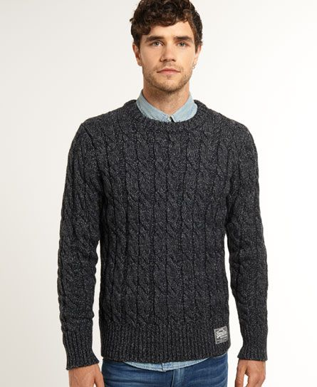 Shop Superdry Mens Jacob Knit in Charcoal Twist. Buy now with free delivery  from the Official Superdry Store.