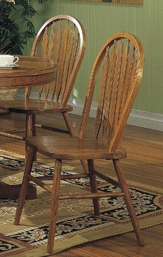 4 Dark Oak Stain Kitchen Dining Arrow Back Chairs Set You Can