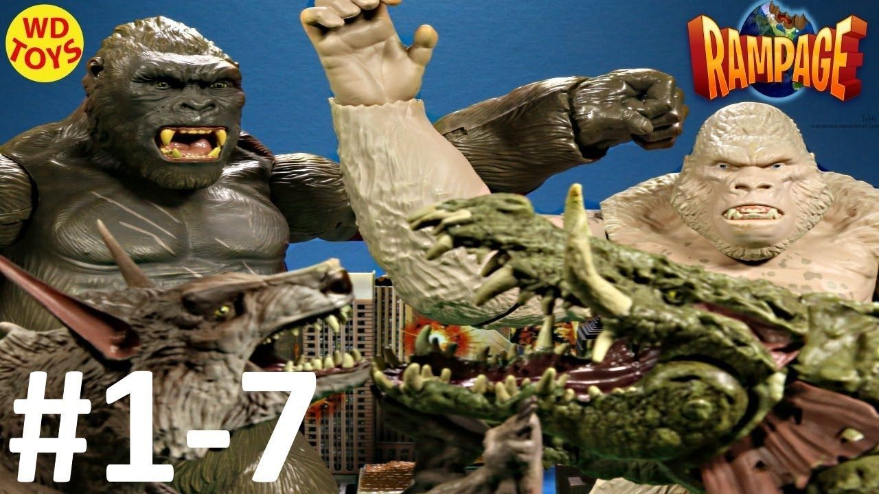 New Rampage The Movie Toys Action Sequences Video S 1 7 Compilation King King Kong Movies Rampage