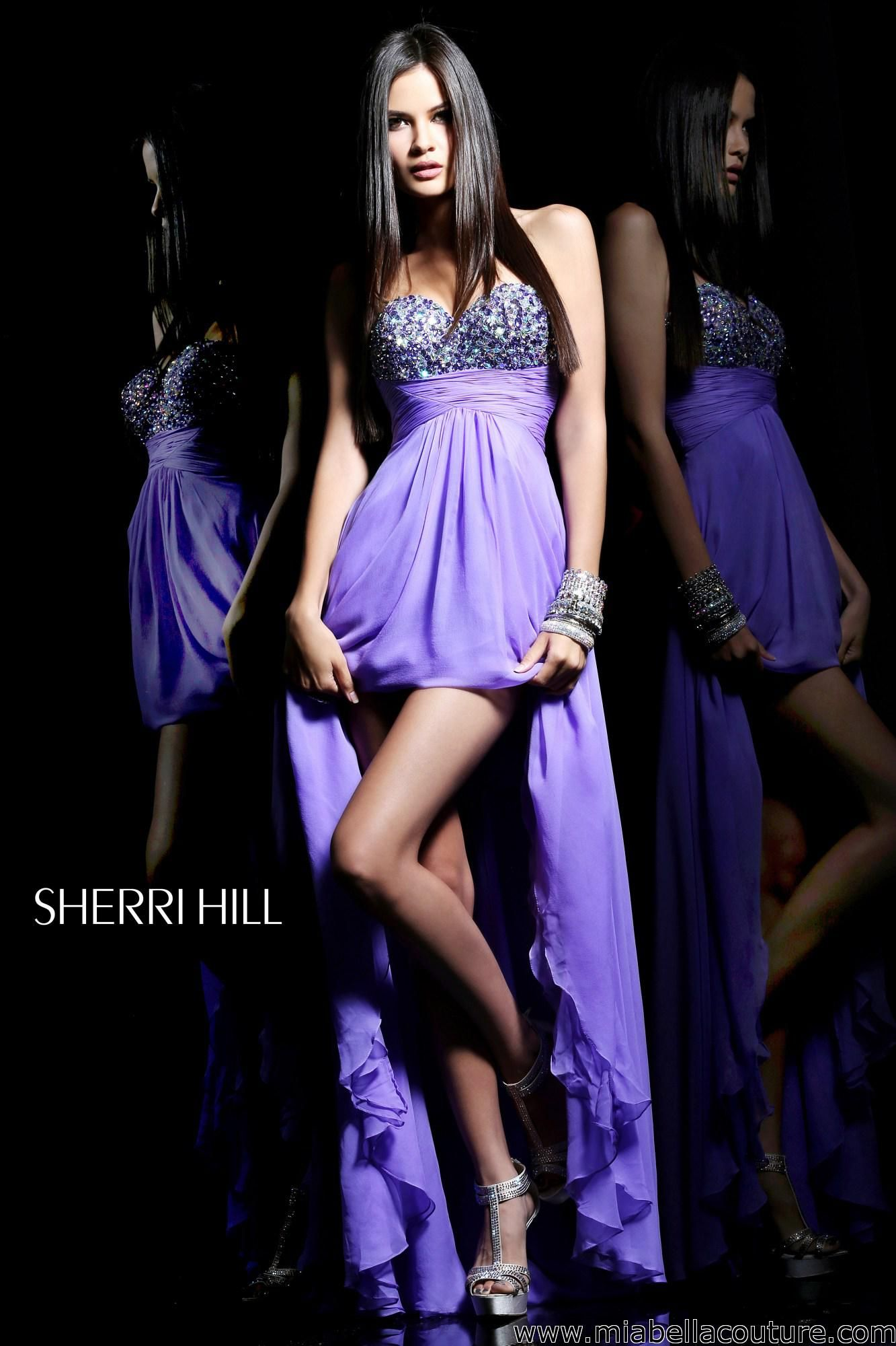 Sherri Hill #1562 This beautiful high-low dress allows you to have ...
