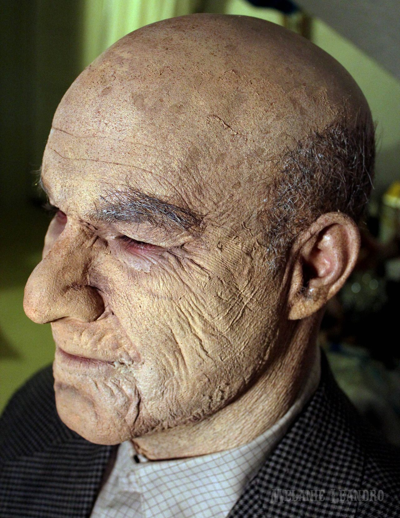"""melanieleandro: """" Old Age Makeup: Latex, nose/chin foam appliance ..."""