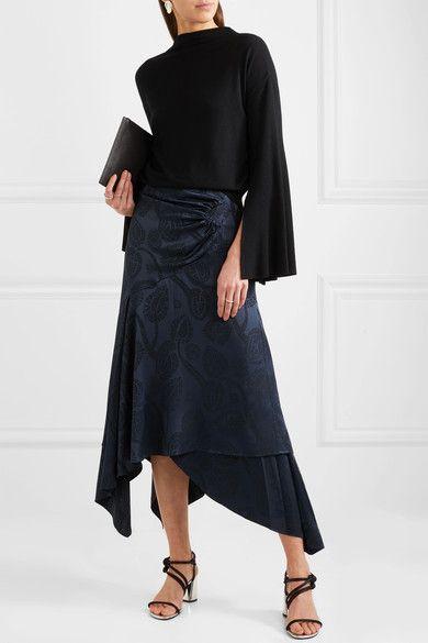 Low Shipping Fee Online Tie-back Knitted Sweater - Black ADEAM Free Shipping Original Best Seller Cheap Online 8bgLb4kbJ
