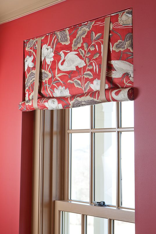 Roll Up London Shade with contrast bandings, Heather Rabold of - persianas modernas