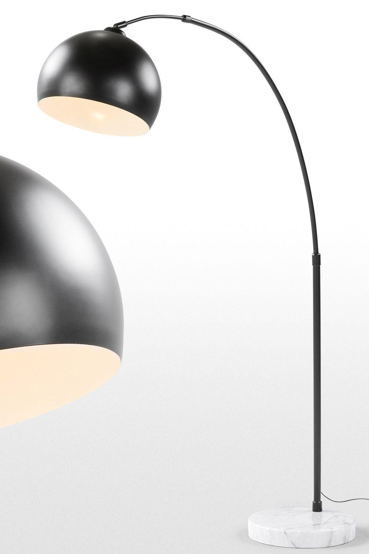 bow große bogenlampe in mattem schwarz. diese bogenlampe ist