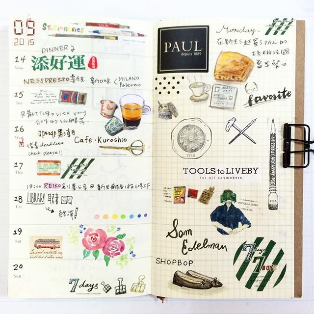 #mytn #travelersnotebook #ToolstoLiveby #planner #maskingtape #stationery