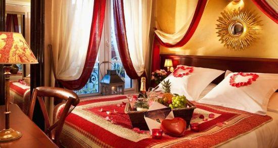 Romantisches schlafzimmer ~ Deko ideen zum valentinstag romantisches schlafzimmer rosenblätter