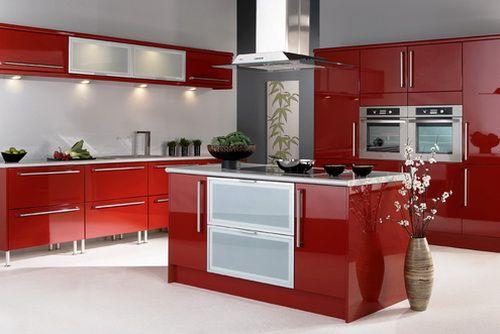 red kitchen modern designs cocinas Pinterest Cocinas, Cocina - cocinas italianas