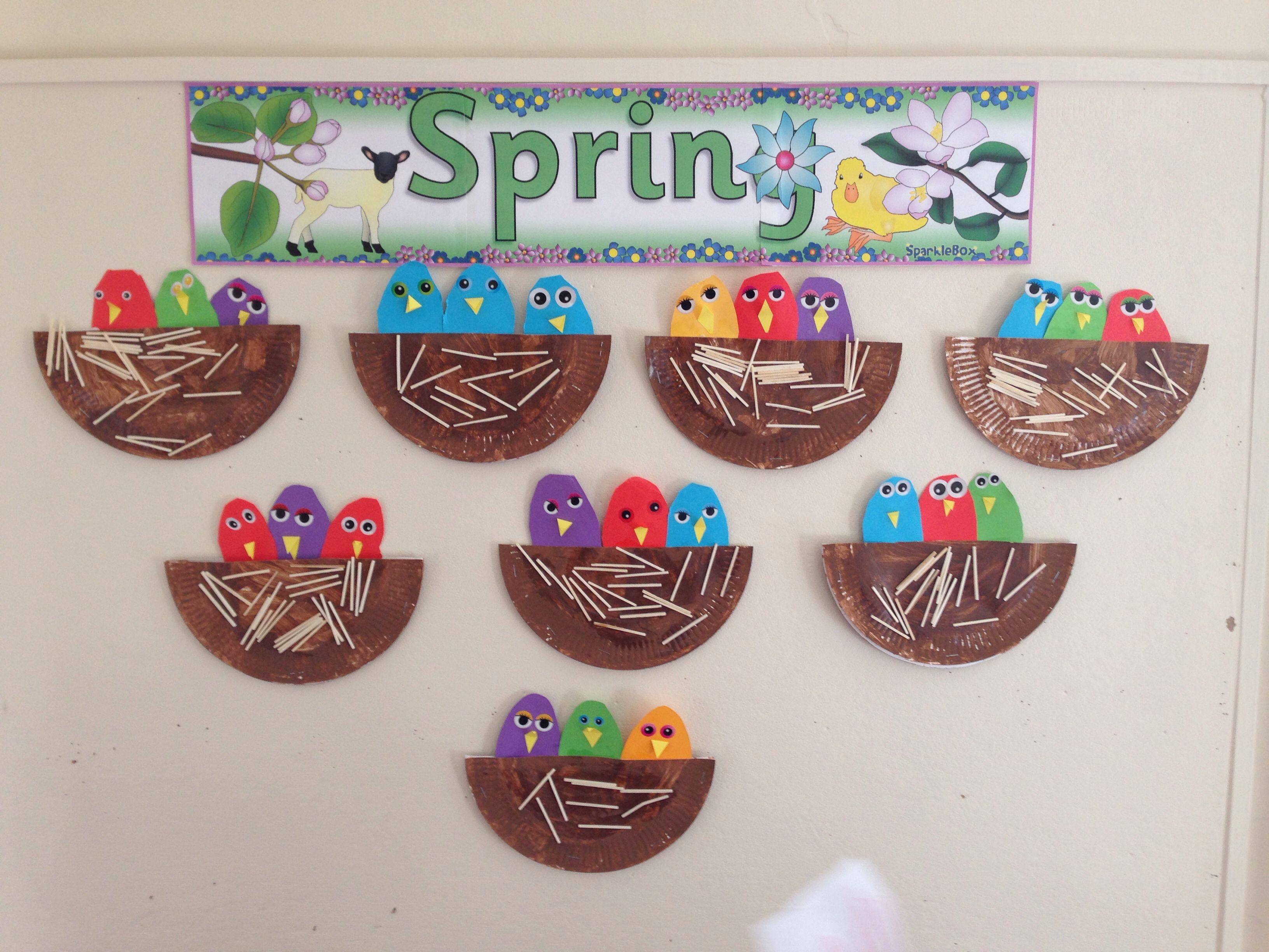 Chicks In Their Nest :) Preschool Montessori Craft, We